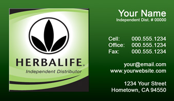Herbalife Business Card Template 11