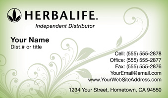 Herbalife business cards free shipping and design no additional herbalife business card template 14 cheaphphosting Choice Image