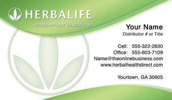 Herbalife business cards free shipping and design no additional herbalife business card template 18 reheart Images