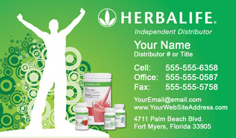 Herbalife business cards free shipping and design no additional herbalife business card template 4 fbccfo Gallery