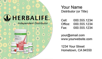 Herbalife business cards new logo