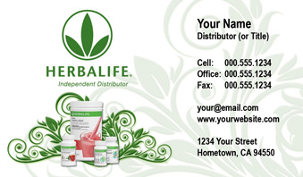 Herbalife Business Card Template 7