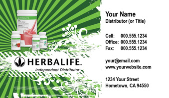 Herbalife Business Card Template 8